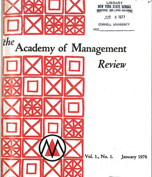 First edition of the Academy of Management Review (AMR)