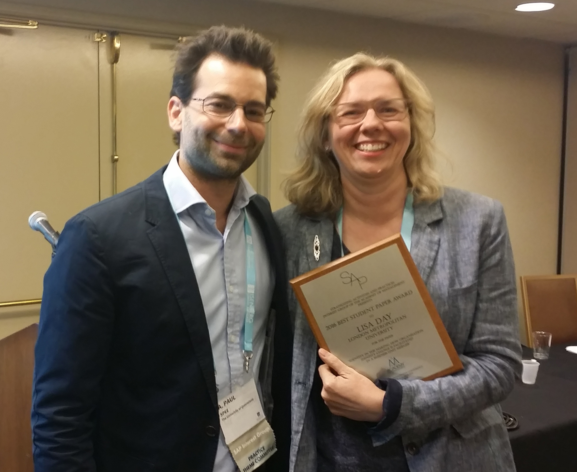 Copy of SAP Best Student Paper - Paul Spee, Lisa Day(1)